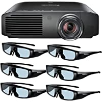 Panasonic PT-AE8000U 1080p Full HD 3D Home Theater Projector + 6 Pairs of Panasonic 3D Glasses DavisMax Bundle