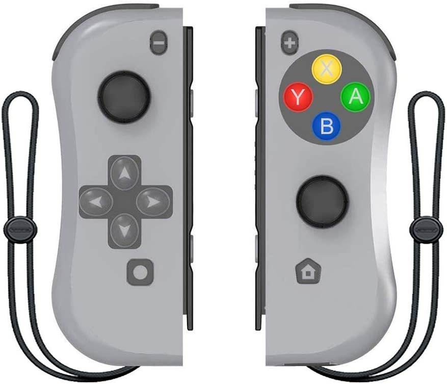 BestOff - Controlador para Nintendo Switch, Left y Right (compatible con Nintendo Switch Console como Joy Con Controlador) color gris