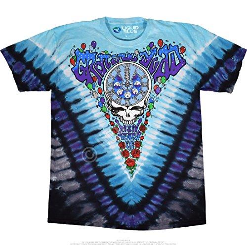 (Blue Mountain Dyes LLC Men's Grateful Dead Midnight Hour Men's Short Sleeve T-Shirt 1990 25th Anniversary)
