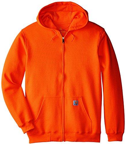 Carhartt Men's Big & Tall Midweight Sweatshirt Hooded Zip Front Original Fit K122,Orange,3X-Large by Carhartt