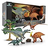 Gizmovine Jumbo Dinosaur Toys Set - Educational Realistic Dinosaur Figures with Hand Painted for 3, 4, 5, 6, 7, 8 Year Old Boys and Girls W3D