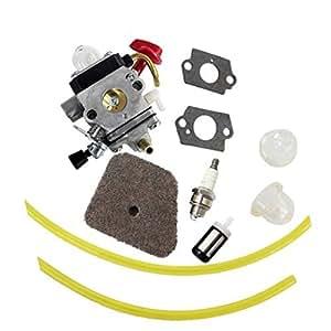 Aisen Pack de carburador Carb junta filtro de aire línea de combustible para STIHL modelos KM100R km110r KM90R SP90sp90t fs90K HL90HL95hl95K s100rx fs110r FS110X fs110rx