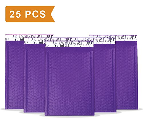 Mailer Plus #0 Purple Poly Bubble Mailers 6x10 Padded Envelopes 25pcs