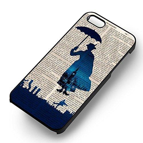 Retro On News Paper pour Coque Iphone 5 or Coque Iphone 5S or Coque Iphone 5SE Case (Noir Boîtier en plastique dur) E6C4DO