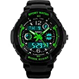 Image of Kids Sports Digital Watch - Boys Analog Waterproof Sport Watches with Alarm,LED Watch For Childrens