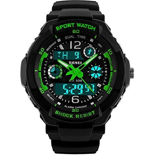 Kids Sports Digital Watch – Boys Analog Waterproof Sport Watches with Alarm,LED Watch For Childrens