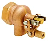 Robert Manufacturing R605T-5 High Turbo Series Bob Red Brass Float Valve Assembly with Stem, 3/4'' NPT Female Inlet x Free Flow Outlet, 115 psi Pressure