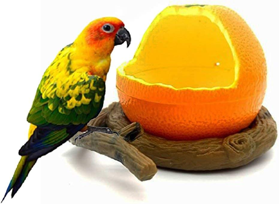 Pxlucky Birds Feeder Bowl,Bird Food Feeding Bowl Feed Cup for Small Parrots Cockatiels Conure Hamster Small Animal Drinking Water Container for Birds Cage Accessories