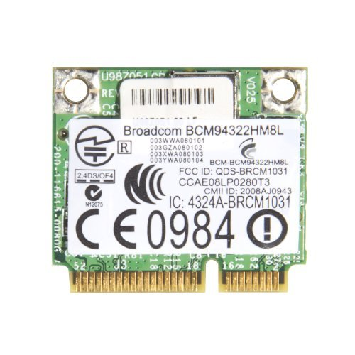 Generic BCM4322 BCM94322HM8L Wireless Wifi Wlan Mini PCI-E Half Size Card For HP Dual Band 802.11a/g/n 300Mbps SPS#504664-001