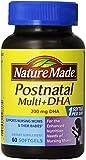 Nature Made Postnatal Multi-Vitamin Plus DHA Softgels, 60 Count 3 Pack Total 180 Softgels