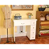 Arrow Sewing Cabinets 901 Auntie Em, Vintage Sewing Cabinent (White)