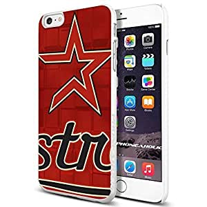 MLB Houston Astros Baseball,Cool iphone 6 4.7 (+ , Inch) Smartphone Case Cover Collector iphone TPU Rubber Case White