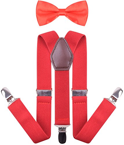 Toddler Christmas Bow Ties and Suspenders Y Shape