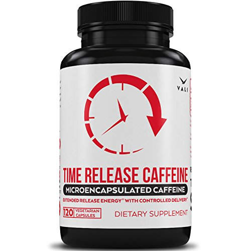 Time Release 100mg Caffeine Pills – 120 Veggie Capsules Microencapsulated for Extended Energy. No Crash Controlled Delivery Brain Booster Supplement for Sustained Mental Performance, Focus & Clarity Review
