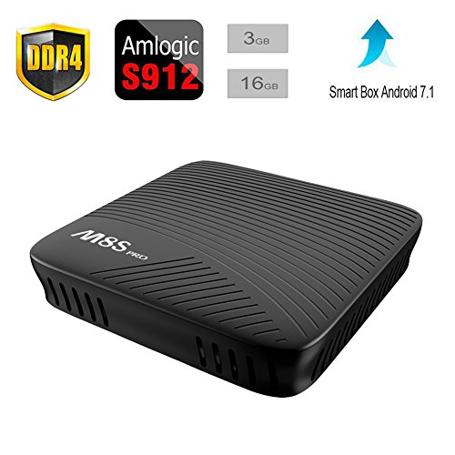 Balight 2017 The latest M8S PRO Android 7.1 TV BOX 3GB+16GB DDR4 Amlogic S912 Octa-core ARM Cortex-A53 CPU up to 2 GHz Built in 2.4G/5G WiFi With Bluetooth 4.1+HS