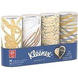 Kleenex Perfect Fit Facial Tissue, White, Tube Box, 50 Sheets, 4 Ct