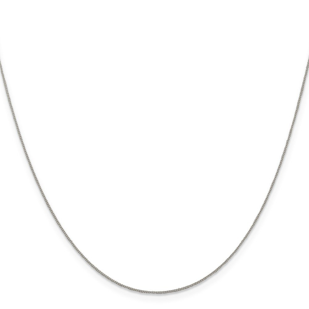 Sterling Silver 0.5mm Fine Curb Chain