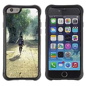 LASTONE PHONE CASE / Suave Silicona Caso Carcasa de Caucho Funda para Apple Iphone 6 / Nature Beautiful Forrest Green 1