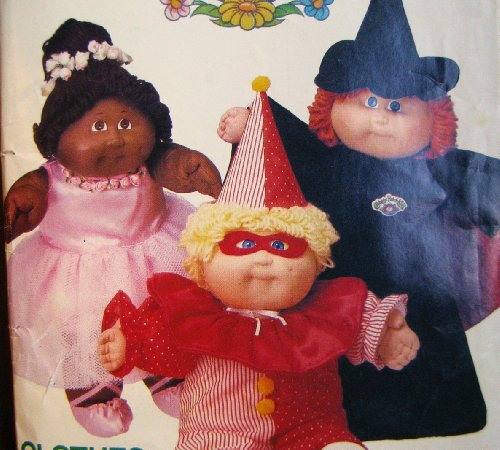 (Cabbage Patch Kids Costumes, Butterick 6935 Vintage 1984, Clown, Witch, Princess or Ballerina)