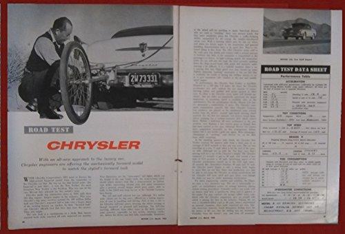 - 1955 CHRYSLER NEW YORKER DeLUXE Hardtop VINTAGE NON-COLOR ROAD TEST - USA - MOTOR TREND - NICE ORIGINAL !!