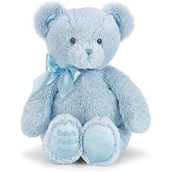 Amazon bearington babys first teddy bear blue plush stuffed bearington babys first teddy bear blue plush stuffed animal altavistaventures Images