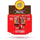 GO CUBES Energy Chews, Mocha Coffee Flavored, 4 count energy chews (20 Pack)
