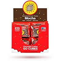 GO CUBES Energy Chews, Mocha Coffee Flavored, 4 count chews (20 Pack)