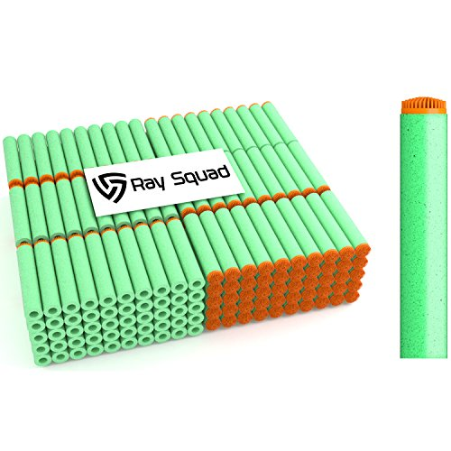 Rays Dart - 200 Pack Neon Green Koosh Darts Nerf Compatible Darts by Ray Squad Compatible with N-Strike Elite Series Blasters