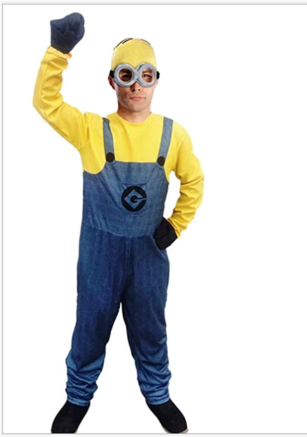 Mitef Mi Villano Favorito Yellow Men Costume Mini Corps Halloween ...