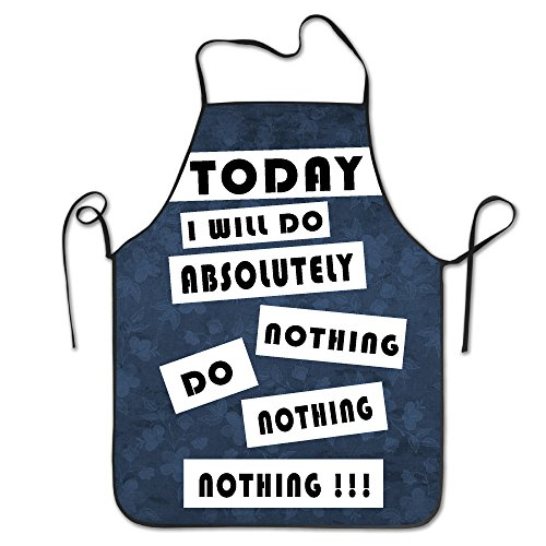 Kitchen Apron For Women Vintage Apron Dress Men Cooking Apron Pinafore Today I Will Do Absolutely Nothing Apron