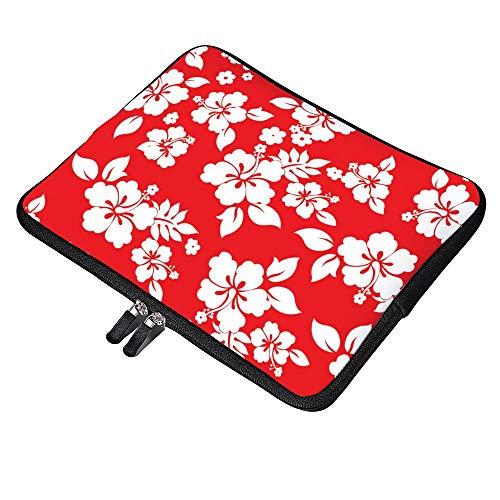 DKISEE Multi Size Hibiscus Flower Laptop Sleeve Neoprene Sleeve Case MacBook MacBook Air MacBook Pro 13 Inch Laptop Bag Protector