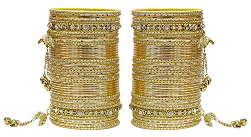 MUCHMORE Women Beautiful Traditional Fashion Golden Bangle Indian - Indian Traditional Wear