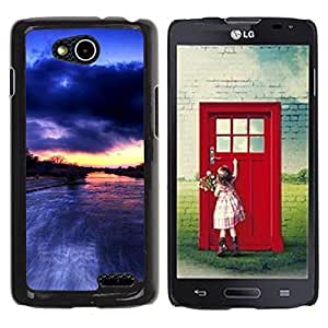 FECELL CITY // Duro Aluminio Pegatina PC Caso decorativo Funda Carcasa de Protección para LG OPTIMUS L90 / D415 // River Amazon Rain Clouds Nature