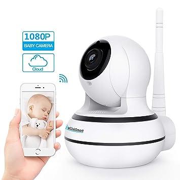 Cámara WiFi Cámara de Seguridad Inalámbrica Pan Tilt Zoom Home Video Monitor eLinkSmart Cámara IP 2-Vias Audio Grabación de Vídeo 960P HD de Visión ...