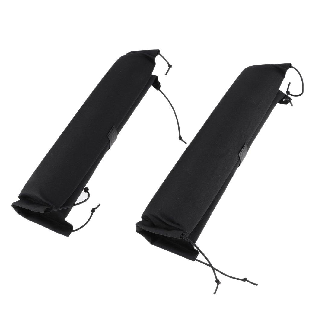 D DOLITY 1 Pair Padded Kayak Dinghy Canoe Surfboard SUP Car Roof Bar Rack Protective Pads 40cm Long