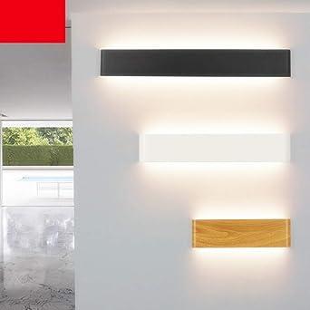 Led Lámpara De Pared Apliques Pared Interior Moderno Iluminación De Interior La Moda Entrada Estudio Corredor Pared Salón Escalera Luz De Baño Espejo Luz Blanco Cálido Blanco Mate 25Cm: Amazon.es: Iluminación