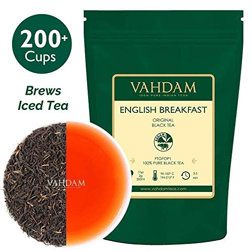 Original English Breakfast Black Tea Leaves (200+ Cups) STRONG, RICH & AROMATIC, Loose Leaf Tea, World's Finest...