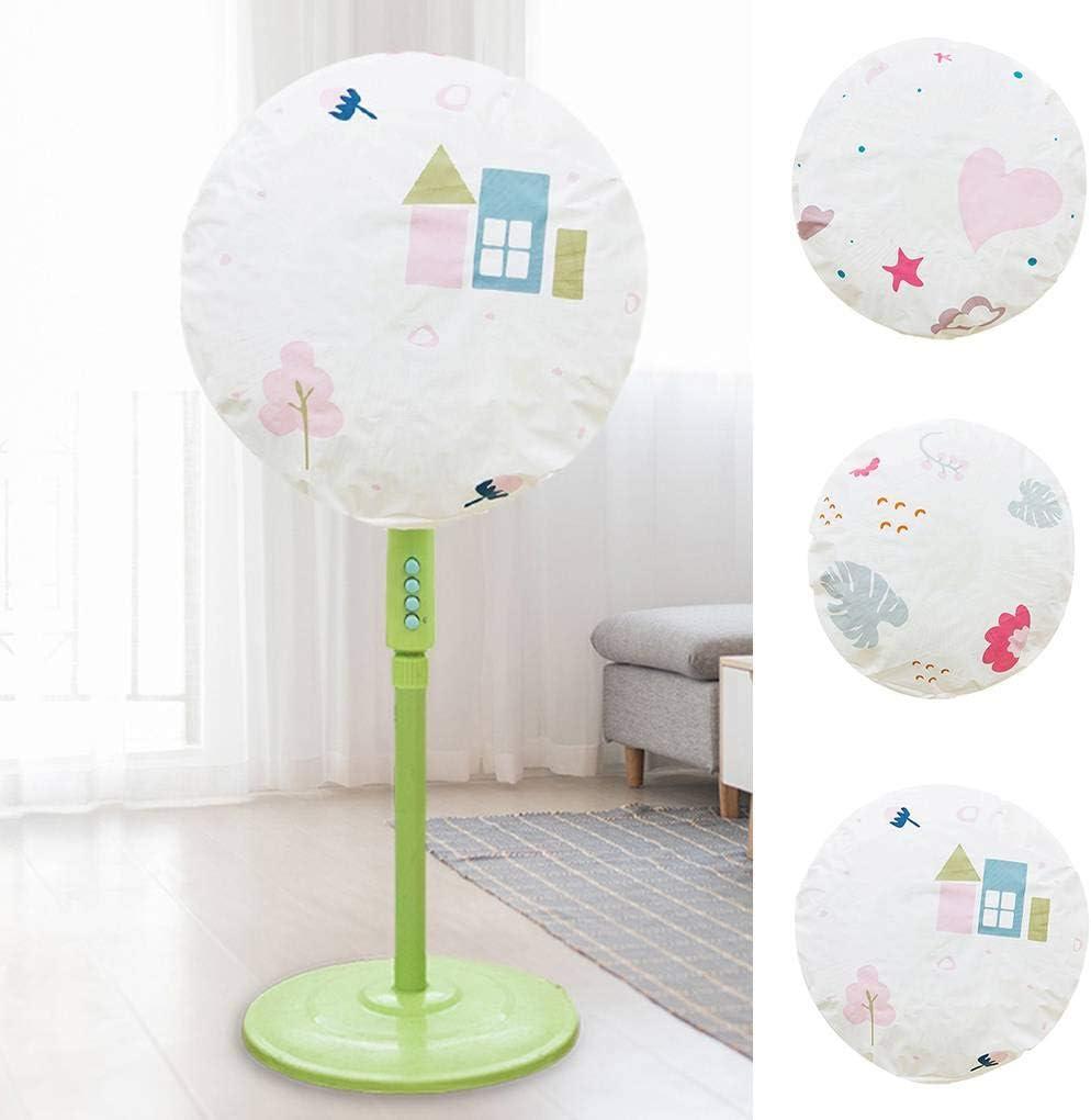 Deinbe 45cm Standing Round Fan Staubschutz Sicherheit Sheild PEVA Fan-Schutz Waschbar Faltbare Staubdichtes3