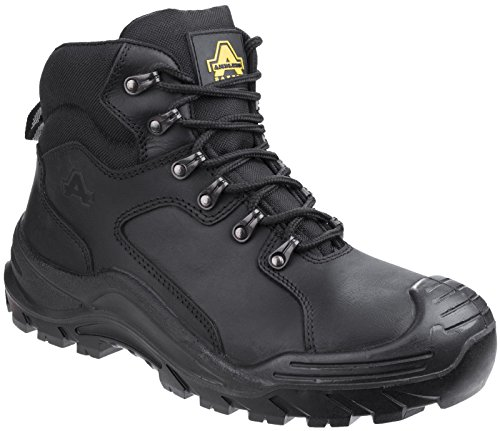 Amblers Safety Ambler AS202 Wasserdicht Komfortable Full-Grain Leder Sicherheitsstiefel Schwarz