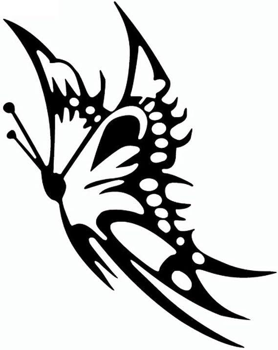 Dandeliondeme Reflektierende Schmetterling Car Styling Dekorative Auto Aufkleber Windows Decals Dekor Für Notebook Skateboard Snowboard Gepäck Koffer Macbook Auto Fahrrad Stoßstange Schwarz Auto