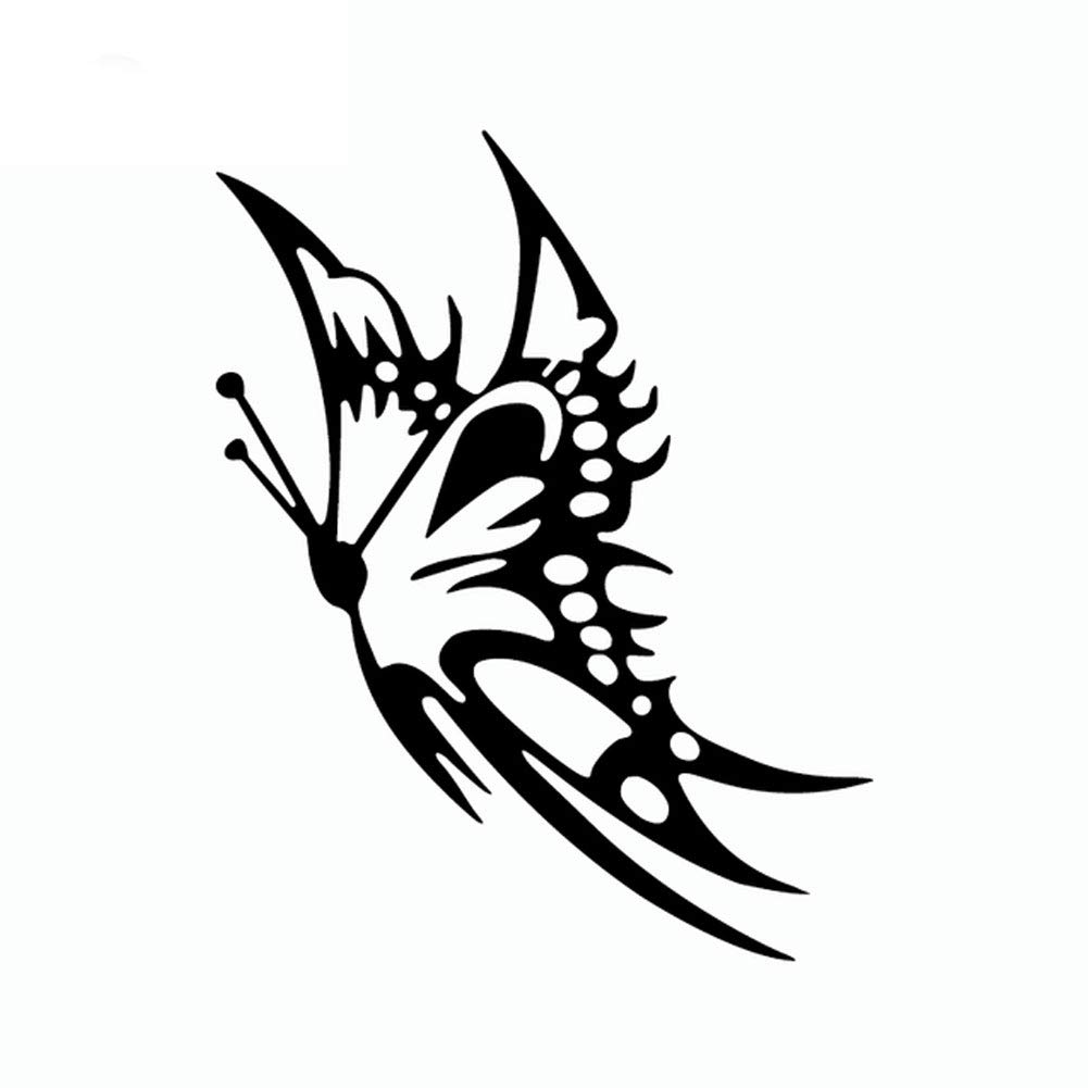 856store Big Promotion Reflective Butterfly Car Styling Decorative Stickers Auto Windows Decals Decor Black