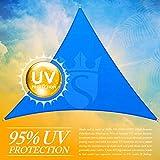 Royal Shade 16' x 16' x 16' Blue Triangle Sun Shade