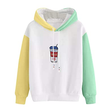 1ba01e62b5d4f Oksale Womens Long Sleeve Print Hoodie Sweatshirt Hooded Pullover Tops  Blouse