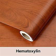 Wood grain Home Decor Furniture Vinyl Wrap Waterproof Wall Sticker Self Adhesive PVC Wallpaper Kitchen Desk Door Hematoxylin 60cmX10m