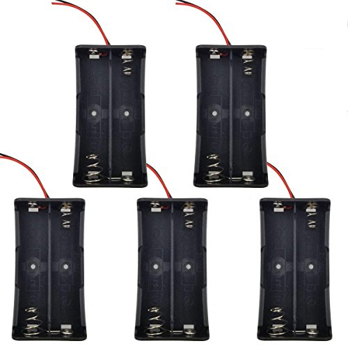 SACKORANGE Plastic Battery Storage Case Box Holder for 2 X 18650 with 6