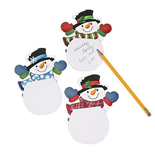 Snowman Pencil - Waving Snowman Notepads (24 Pack) Paper. 4