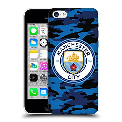 Officiel Manchester City Man City FC Lune Bleu foncé Badge Camou Étui Coque D'Arrière Rigide Pour Apple iPhone 5c