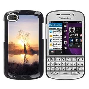 Paccase / SLIM PC / Aliminium Casa Carcasa Funda Case Cover - Sunset Beautiful Nature 59 - BlackBerry Q10