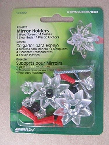 Screws Rosette - Hillman Mirror Rosette Kit #122200 4 Piece Kit. Screws Included New