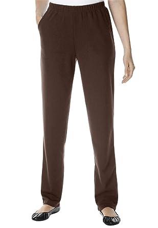 01b76ca26c25e Woman Within Plus Size Petite Straight Leg Ponte Knit Pant at Amazon ...